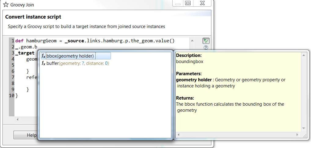 Groovy script function