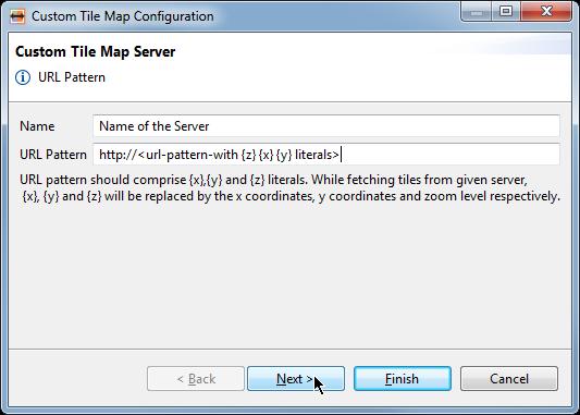 Map configuration via Custom Tile URL